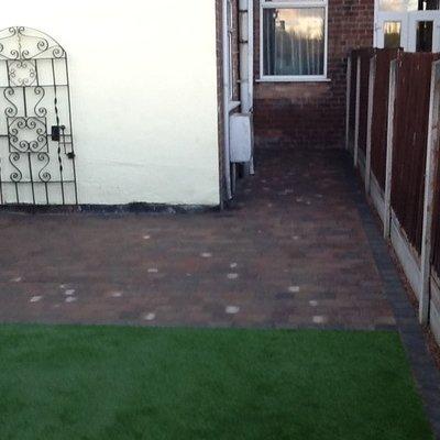 Woburn Rumbled Block Paving & Artificial Grass Installation Ilkeston